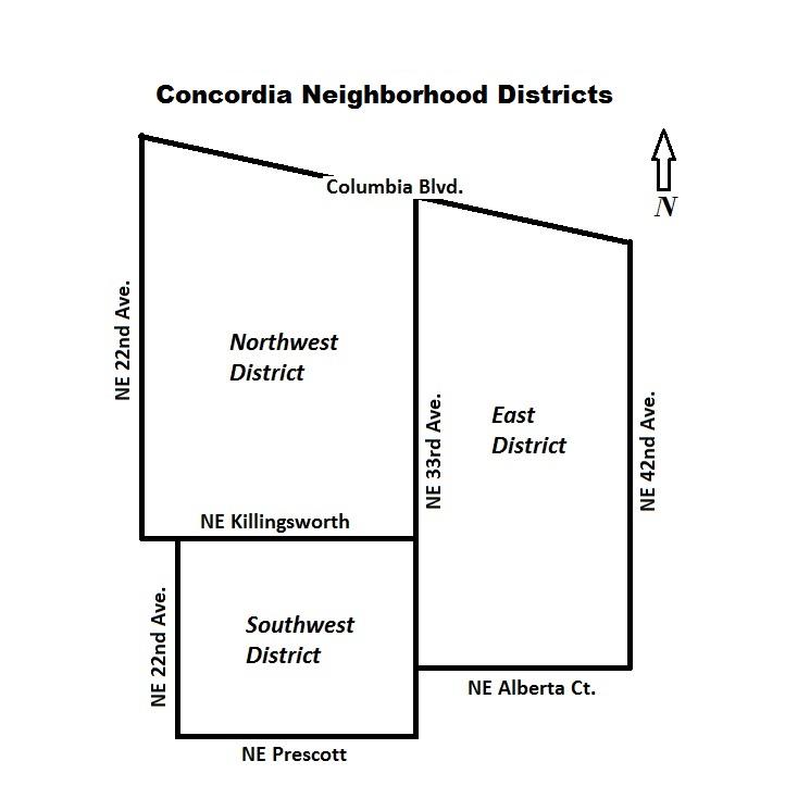 Concordia Neighborhood Portland Oregon distrcit map