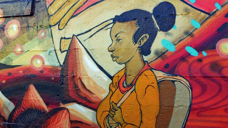 Murals of the Black United Fund, Alberta Street, Portland, Oregon