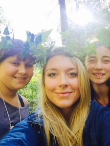 Faubion School teacher Gabrielle Quintana, center, with two students at an outdoor school program. Quintana recently raised around $1,100 for class room technology through social media and crowdfunding efforts. Submitted photo