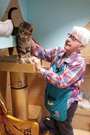 Diane Hogan volunteering at Oregon Humane Society